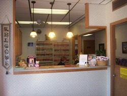 Reception, where you will be greeted with a warm friendly smile.